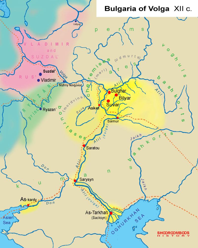 Chuvash History By Shooroomboos - Volga river on world map